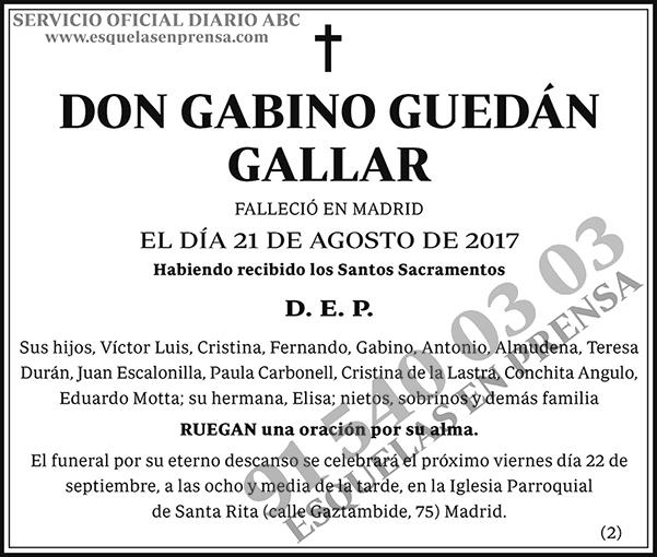 Gabino Guedán Gallar